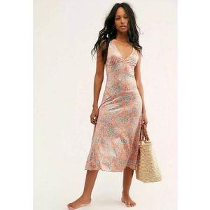 NEW Free People Nowhere to Be Midi Slip Dress